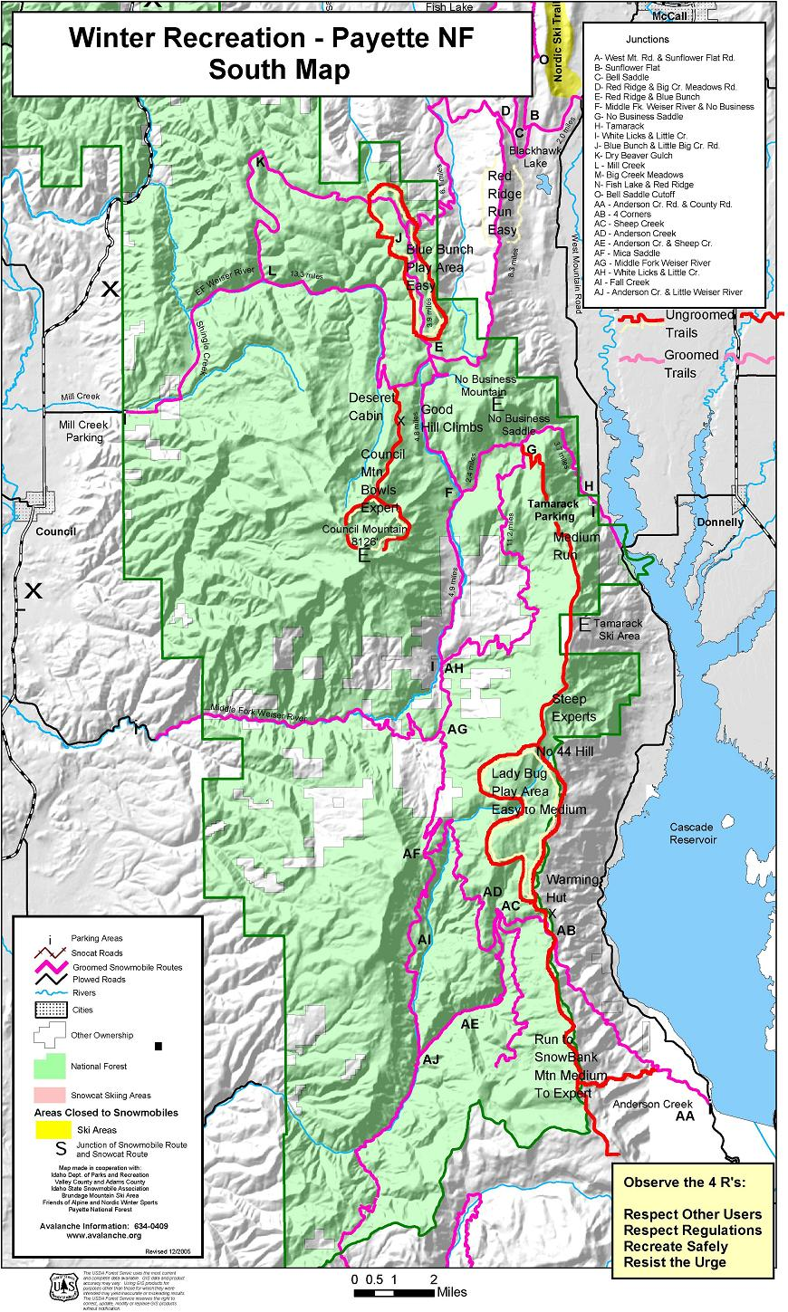McCall Area Snowmobile Trail Maps